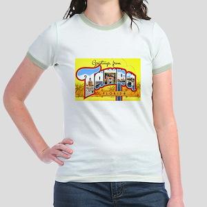 Tampa Florida Greetings Jr. Ringer T-Shirt