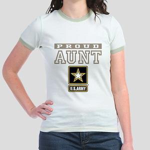 Proud U.S. Army Aunt Jr. Ringer T-Shirt