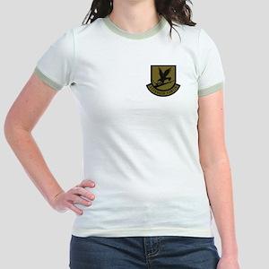 Subdued Defensor Fortis Jr. Ringer T-Shirt