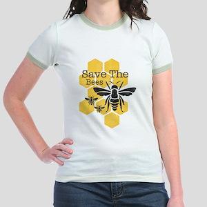 Honeycomb Save The Bees Jr. Ringer T-Shirt