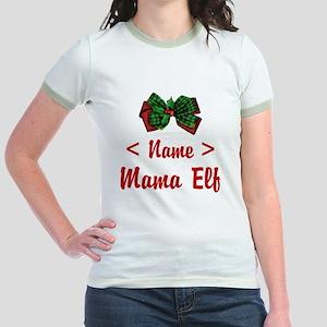 Personalized Mama Elf Jr. Ringer T-Shirt