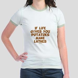 Make Latkes Chanukah Jr. Ringer T-Shirt