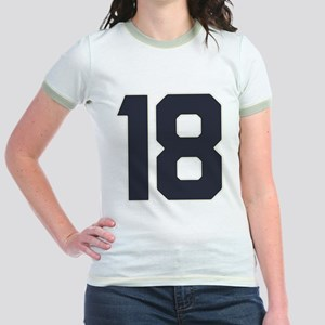 18 18th Birthday 18 Years Old Jr. Ringer T-Shirt
