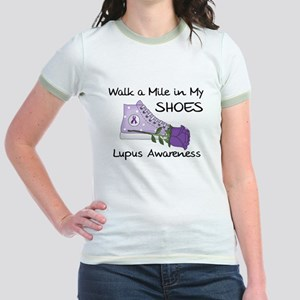 Walk a Mile in My Shoes Lupus Jr. Ringer T-Shirt