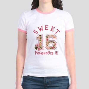 68181f21f Sweet Sixteen Junior Ringer Tees - CafePress