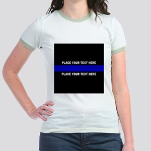 Thin Blue Line Customized Jr. Ringer T-Shirt