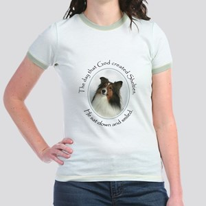 Creation of Shelties #1 Jr. Ringer T-Shirt