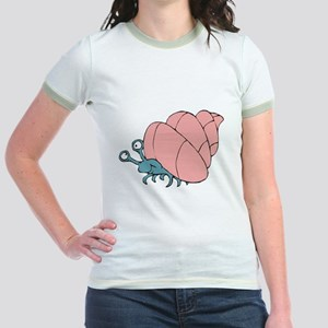Cute Little Hermit Crab Jr. Ringer T-Shirt