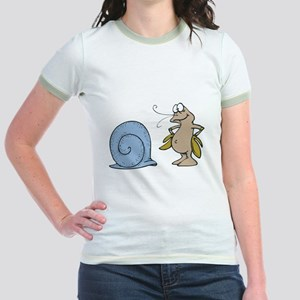 Hermit Crab Out of His Shell Jr. Ringer T-Shirt