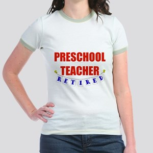 Retired Preschool Teacher Jr. Ringer T-Shirt