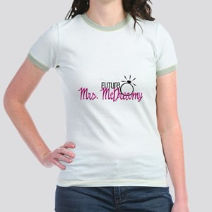 Future Mrs. McDreamy (Pink) Jr. Ringer T-Shirt