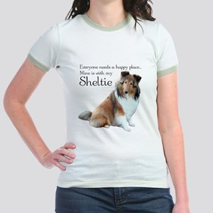 Happy Place Sheltie Jr. Ringer T-Shirt