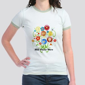 Personalized floral light Jr. Ringer T-Shirt