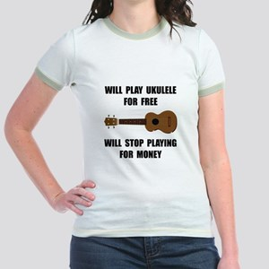 Ukulele Playing Jr. Ringer T-Shirt