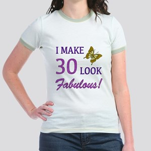 I Make 30 Look Fabulous! Jr. Ringer T-Shirt