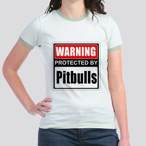 Warning Pitbulls T-Shirt