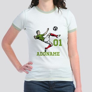 Customizable Soccer Jr. Ringer T-Shirt
