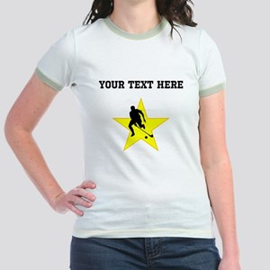 Field Hockey Player Silhouette Star (Custom) T-Shi