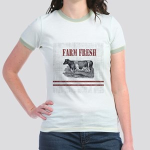 Country Chic Cow Farmhouse T-Shirt