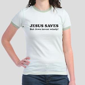 095af3f87 Funny Jesus Junior Ringer Tees - CafePress