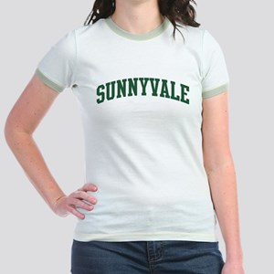 Sunnyvale (green) Jr. Ringer T-Shirt