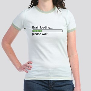 Brain loading, please wait Jr. Ringer T-Shirt