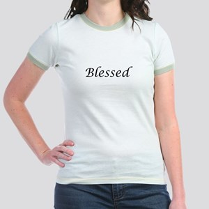 Blessed Calligraphy Style Jr. Ringer T-Shirt