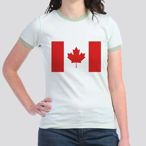 Flag of Canada Jr. Ringer T-Shirt
