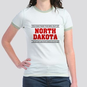 'Girl From North Dakota' Jr. Ringer T-Shirt