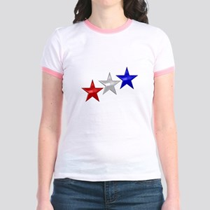 Three Shiny Stars Jr. Ringer T-Shirt