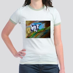 Colorful, Dairy, Cow, Jr. Ringer T-Shirt