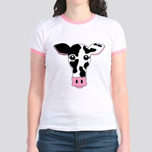 Cute Cow Jr. Ringer T-Shirt