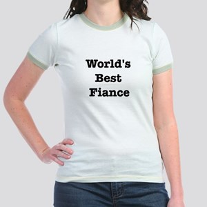 Worlds Best Fiance Jr. Ringer T-Shirt