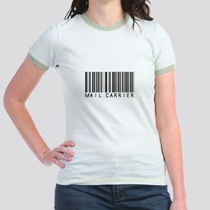 Mail Carrier Barcode Jr. Ringer T-Shirt