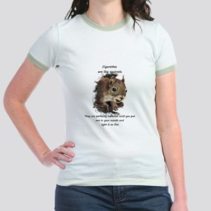 Quit Smoking Motivational Fun Squirrel Quote T-Shi