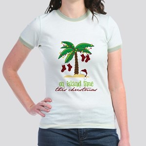 On Island Time Jr. Ringer T-Shirt