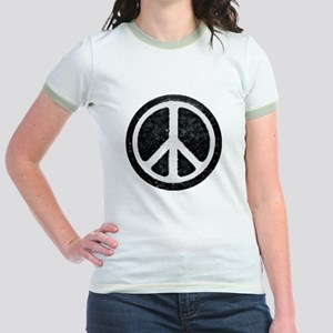 Original Vintage Peace Sign Jr. Ringer T-Shirt