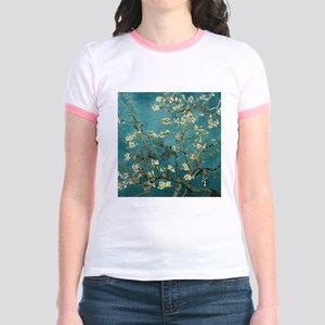 Van Gogh Almond Branches In Bloom Jr. Ringer T-Shi