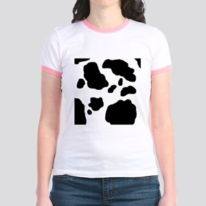 Black/White Cow Jr. Ringer T-Shirt
