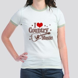 I Love Country Music Jr. Ringer T-Shirt