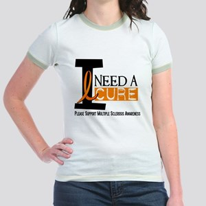 I Need A Cure MS Jr. Ringer T-Shirt