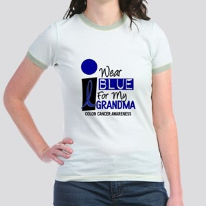 I Wear Blue For My Grandma 9 CC Jr. Ringer T-Shirt