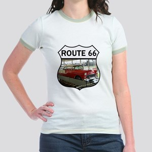 Route 66 Museum - Clinton, OK Jr. Ringer T-Shirt