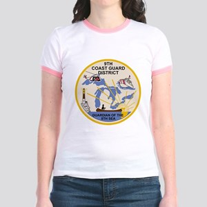 USCG-9th-CGD-Patch Jr. Ringer T-Shirt