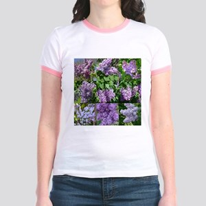 Lilac Collage #16 Jr. Ringer T-Shirt