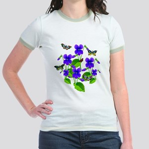 Violets and Butterflies T-Shirt