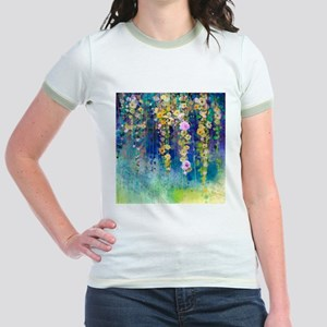 Floral Painting Jr. Ringer T-Shirt