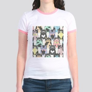 Hipster Cats Jr. Ringer T-Shirt