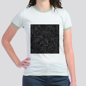 Black Flourish Jr. Ringer T-Shirt