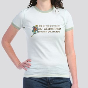 God Created Vallhunds Jr. Ringer T-Shirt